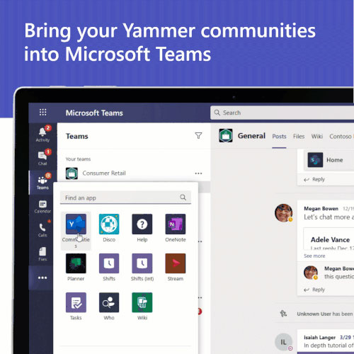 Pin Yammer in Teams