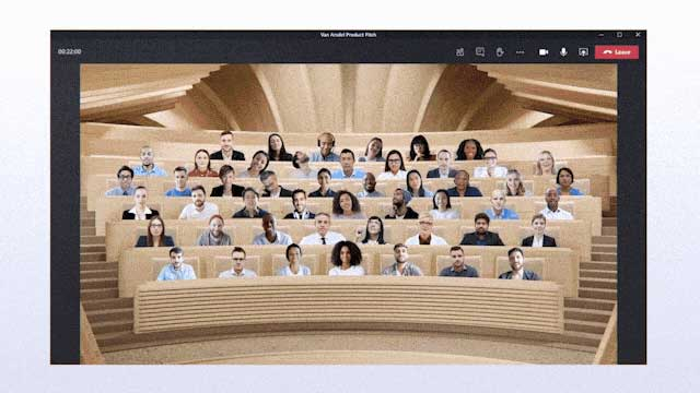 Together Mode - Microsoft Teams video conference