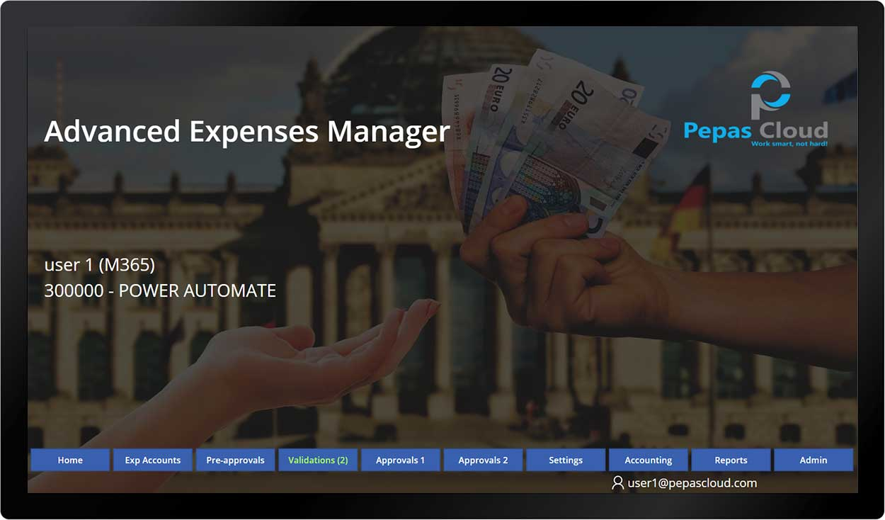 pepas cloud advanced expense manager